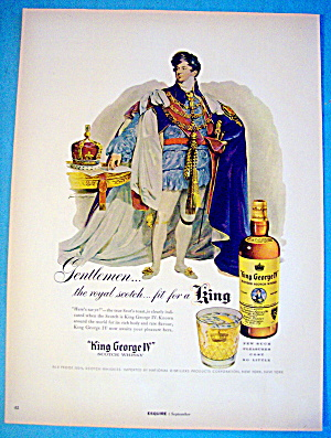 1955 King George Whiskey With King George