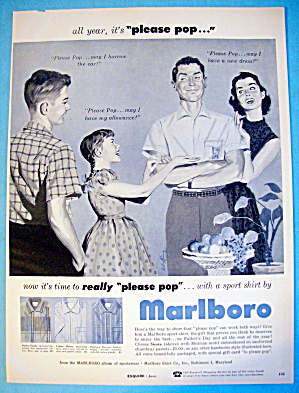 1956 Marlboro Shirts with family talking (Image1)
