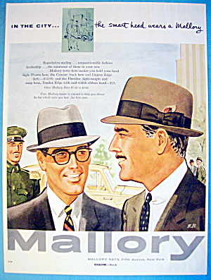 1956 Mallory Hats with Men Wearing Courier & Fleetlite (Image1)