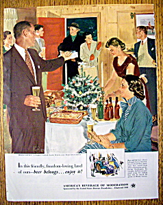 1952 Holiday Buffet By Douglas Crockwell