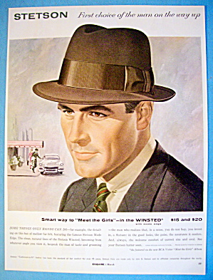 1956 Stetson Hats with Man Wearing The Winsted (Image1)
