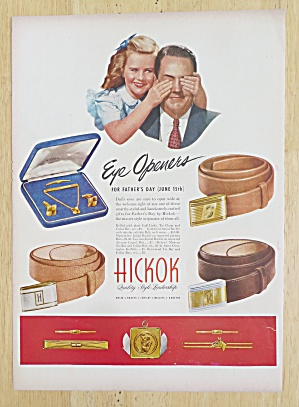 1947 Hickok Belts w/Girl Has Dad's Eyes Covered  (Image1)