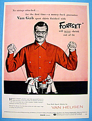 1956 Van Heusen Shirts with Man Working Puppets (Image1)