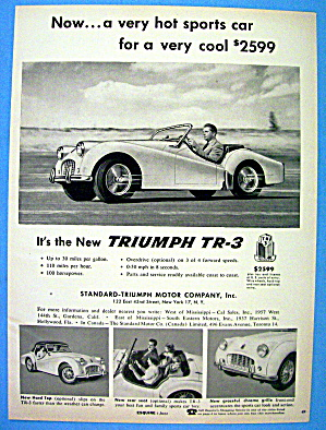 1956 Triumph TR-3 with Man Driving The Car (Image1)