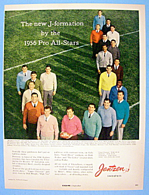 1956 Jantzen Sweaters With Football Pro All Stars