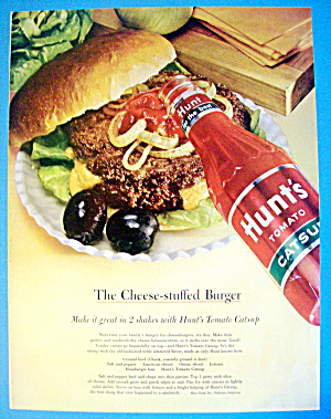 1963 Hunt's Catsup With Cheese Stuffed Burger