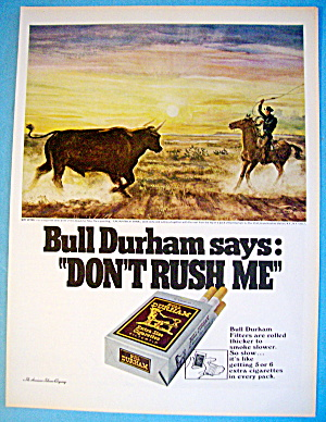 1968 Bull Durham Cigarettes with Encounter At Dawn (Image1)