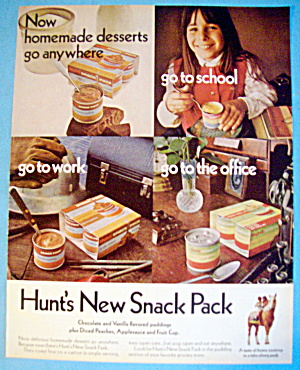1970 Hunt's Snack Pack With Many Places To Eat