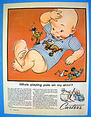 1956 Carter Polo Shirts With Baby & Polo Figures (Image1)