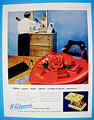 1956 Whitman's Chocolates with Man Dressing For Date (Image1)