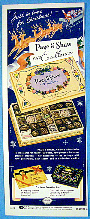 1956 Page & Shaw Chocolates with Box Of Candy (Image1)