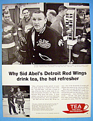 1962 Tea With Player & Coach Sid Abel (Red Wings) (Image1)