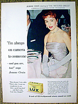 1957 Lux Soap with Television Star Jeanne Crain (Image1)
