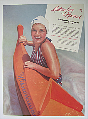 1936 Matson Line To Hawaii with Woman Swimming (Image1)