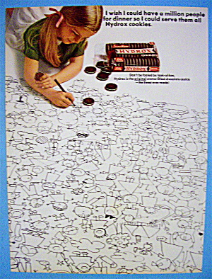 1966 Hydrox Cookies With Girl Drawing