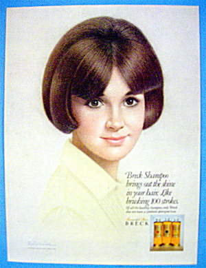 1967 Breck Shampoo With Lovely Brown Eyed Woman (Image1)