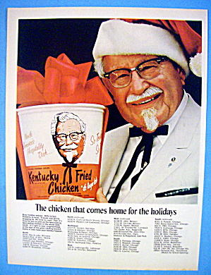 1967 Kentucky Fried Chicken With The Colonel & Bucket