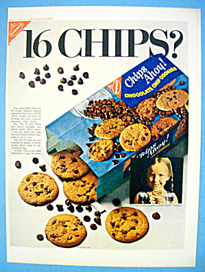 1967 Nabisco Chips Ahoy With Little Girl Eating Cookie