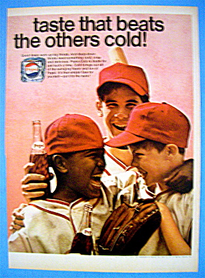 1968 Pepsi Cola (Pepsi) With Boys Smiling