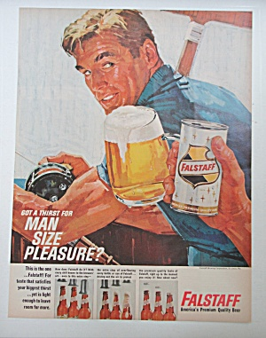 1964 Falstaff Beer With Man Fishing