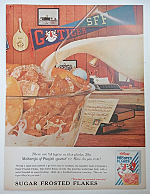 1964 Kellogg's Frosted Flakes w/ Bowl Of Cereal  (Image1)