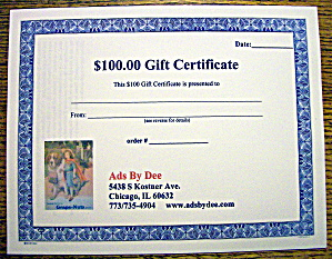 Ads By Dee $100 Gift Certificate (Image1)