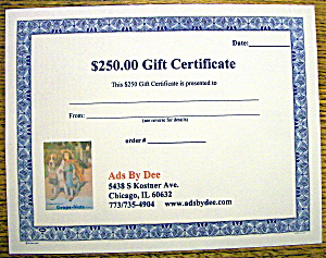 Ads By Dee $250 Gift Certificate (Image1)
