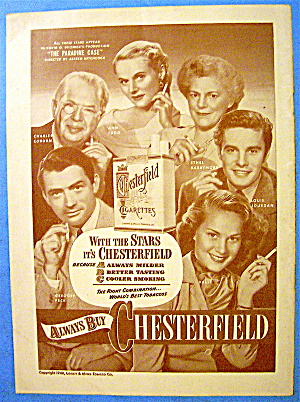 1948 Chesterfield Cigarettes with Cast of Paradine Case (Image1)
