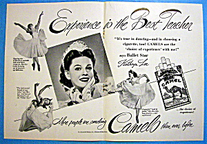 1948 Camel Cigarettes With Ballet Star Kathryn Lee