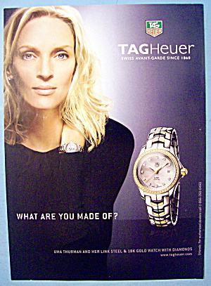 2007 Tagheuer Swiss Watch With Uma Thurman