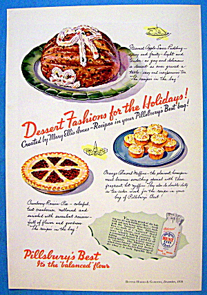 1936 Pillsbury's W/ Best Dessert Fashions