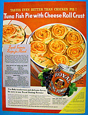 1936 Royal Baking Powder W/ Tuna Fish Pie