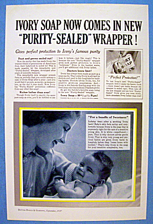 1937 Ivory Soap w/ Mother & Baby (Image1)