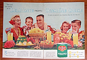 1958 Del Monte Pineapple with Family on a Cruise  (Image1)