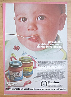 1981 Gerber's Foods W/ Baby Eating