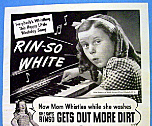 1944 Rinso Soap w/ Girl Playing Piano (Image1)