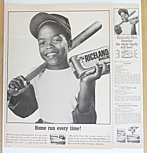 1966 Riceland Rice with Boy Holding a Bat & Bag of Rice (Image1)