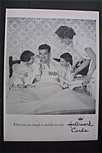 1958 Hallmark Cards with 2 Children Giving Dad A Card (Image1)