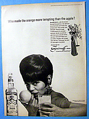 1966 Smirnoff Vodka With Eartha Kitt (Catwoman)