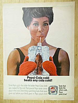 1967 Pepsi-cola (Pepsi) With Woman Holding Bottle