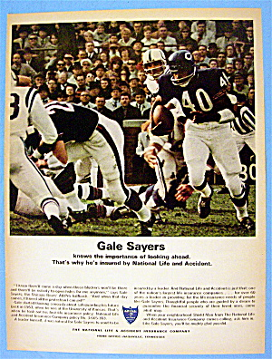 1967 National Life & Accident Insurance w/ Gale Sayers (Image1)