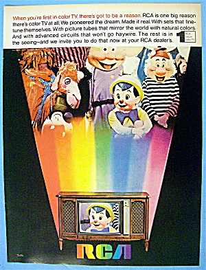 1968 Rca TV with Pinocchio, Dopey & More (Image1)