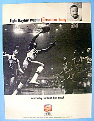 1968 Carnation Milk with Basketball's Elgin Baylor (Image1)