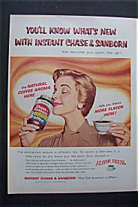 1958 Instant Chase & Sanborn Coffee with Woman Smelling (Image1)