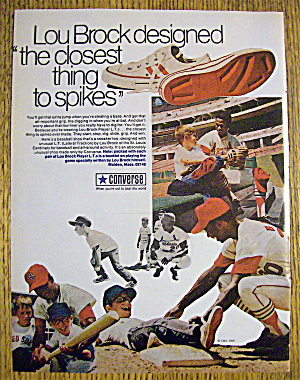 1970 Converse L T Shoes with Baseball's Lou Brock (Image1)