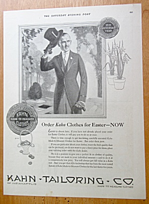 1921 Kahn Tailoring Co with Man in a Suit  (Image1)
