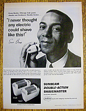 1965 Sunbeam Shavemaster with Baseball's Ernie Banks (Image1)