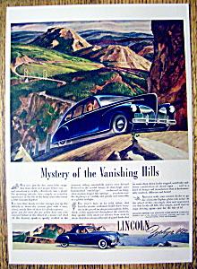 Vintage Ad: 1941 Lincoln Zephyr V-12 (Image1)