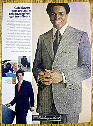 1971 Sears Suit With Football's Gale Sayers