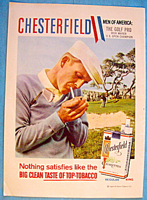 1958 Chesterfield Cigarettes with Golf's Pro Dick Mayer (Image1)